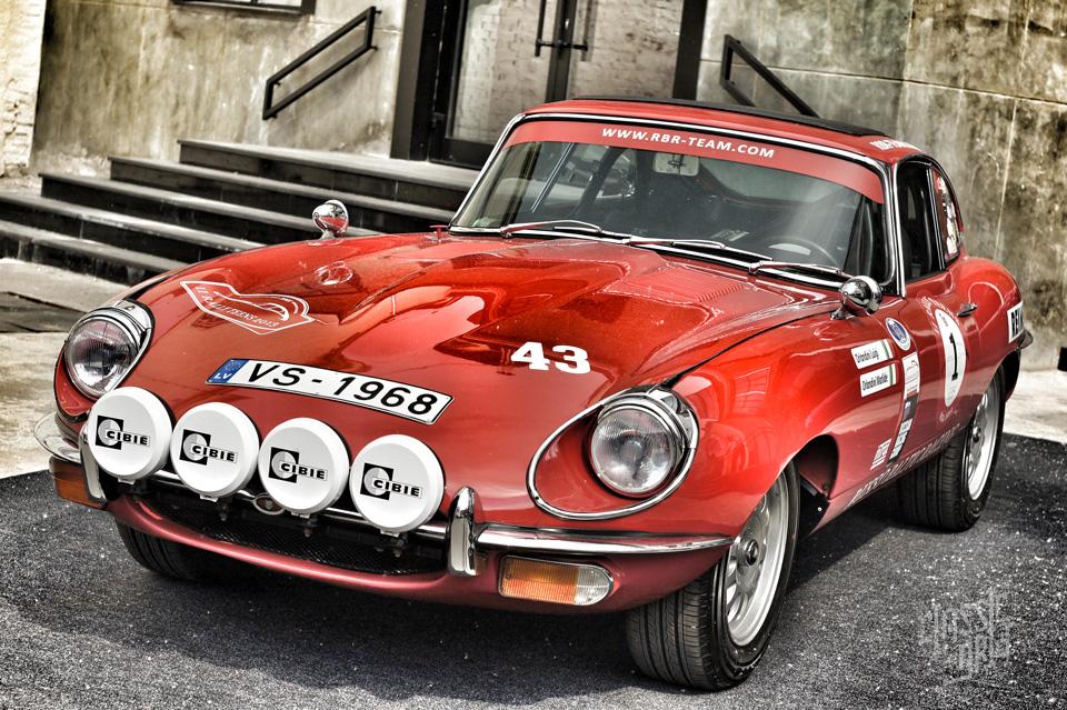 Jaguar E Type left side Russo Baltic Racing