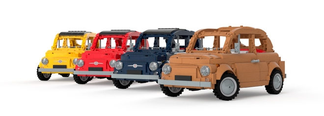 "Fiat 500 F Lego ""Prototipo"""